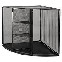 RolodexTM Mesh Corner Desktop Shelf SHELF,CORNER,MESH,BK