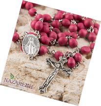 Rose Smell Rosary Petal Red Carved Beads Miraculous Medal &