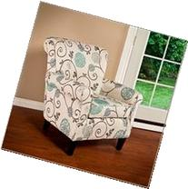 Great Deal Furniture Roseville Blue Floral Accent Lounge