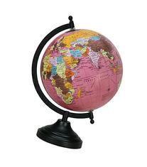 Rotating Pink Globe Table Décor Ocean Geographical Earth