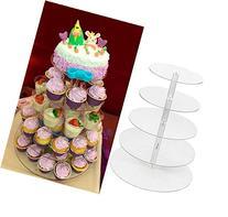 World Pride Round Clear Acrylic Cupcake Stand Wedding