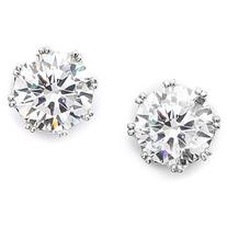 Kenneth Jay Lane Round Cz Stud Earrings - Clear/Silver