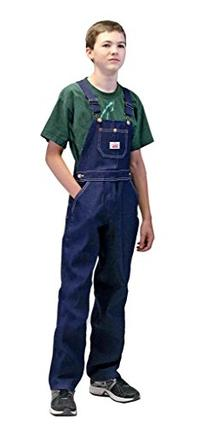 Round House Youth 8-16 Demin Overalls - Made in USA