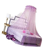 HOSL Round Lace Curtain Dome Bed Canopy Netting Princess