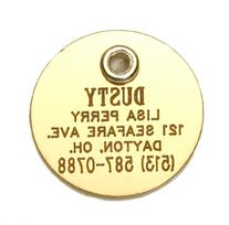 Round Shaped Double Sided Dog Cat Pet ID Tag Custom Engraved