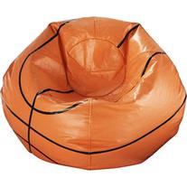 "96"" Round Vinyl Bean Bag, Basketball"
