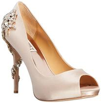 Badgley Mischka Women's Royal Dress Pump, Nude, 5.5 M US
