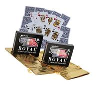 Royal Plastic Playing Cards with Large Numbers _ Bundle of 4