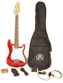 SX RST 1/2 Car Left Handed 1/2 Size Short Scale Red Guitar