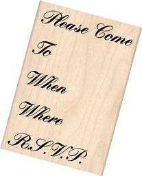 RSVP Rubber Stamp - 2-1/4 inches x 3-1/4 inches