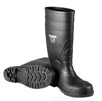 Tingley Rubber 31251.06 6 PVC Steel Toe Sock Boot, Black