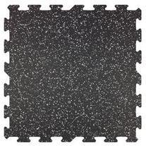 Rubber Flooring Gym Tiles 2'x2' Ft - 9 Tile Pack - 36 Sq Ft