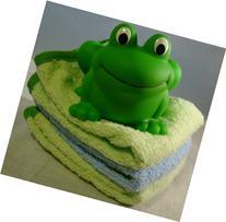 Elegant Baby Rubber Frog and Washcloth Gift Set Baby Shower