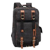 BLUBOON Rucksack Vintage Backpacks Canvas School Unisex Bags