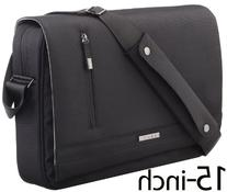 Runetz - BLACK Messenger Shoulder Bag for up to 15-Inch