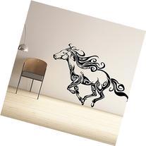 Running Horse Vinyl Wall Decal Animal Lover Home Decor