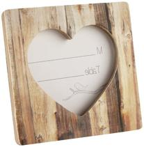 "Rustic Romance"" Faux-Wood Heart Place Card Holder/Photo"
