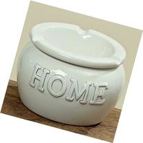 The Rustic White HOME Outdoor Ash Tray, 2 Pieces, Glazed