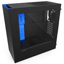 NZXT S340 Mid Tower Computer Case,  Matte Black/Blue