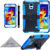 S5 Case, Wisdompro Heavy Duty Rugged  Dual Layers Shockproof