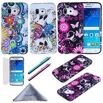S6 Case, Wisdompro® 3 Pack Bundle of Color and Graphic