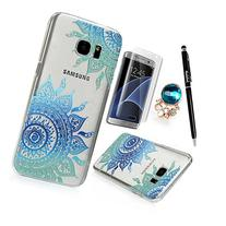 Samsung Galaxy S7 Edge Case Clear Colorful Case Cute