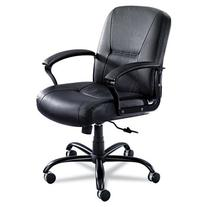 Safco SAF3501BL Serenity Big & Tall Mid-Back Chair Black