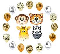 Safari Assortment Jungle Zoo Animals Jumbo Balloons Zebra