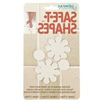 Compac Safe-T-Shapes Bathtub Appliques, White Daisy, 3 Count