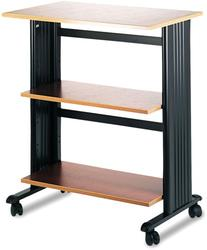 Safeco Mobile Machine Cart, 3-Shelf, 29-1/2 x 20 x 35, Black