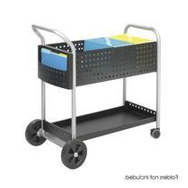 Safeco Scoot Mail Cart, 1-Shelf, 300lbs, 22-1/2 x 39-1/2 x