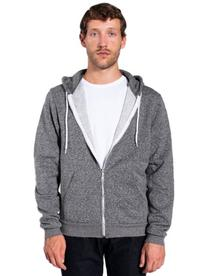 American Apparel Men Salt and Pepper Zip Hoodie Size M