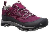 KEEN Women's Saltzman WP Hiking Shoe, Beet Red/Neutral Gray