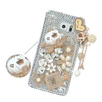 Spritech Samsung Galaxy Note 5 Clear Phone Case,Silver Bling