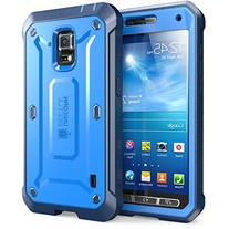 Galaxy S5 Active Case, SUPCASE Unicorn Beetle PRO Series Full-body Hybrid Case with Screen Protector , Blue/Blue Dual Layer +impact Resistant
