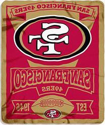 San Francisco 49ers 50x60 Fleece Blanket - Marque Design
