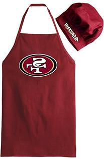 San Francisco 49ers NFL Barbeque Apron and Chef's Hat