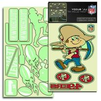 San Francisco 49ers NFL Lil Buddy Glow In The Dark Decal Kit
