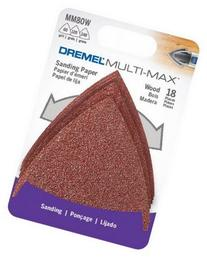 Dremel MM80W Multi-Max Grit Sand Paper, Wood, 18-Pack