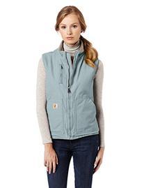 Carhartt Women's Sherpa Lined Sandstone Mock Neck Vest Zip