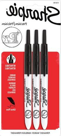 Sharpie Retractable Ultra-Fine Point Permanent Marker, Black