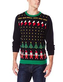 Alex Stevens Men's Santa Invaders Ugly Christmas Sweater,