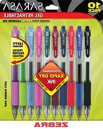 Zebra Sarasa Rapid Dry Ink Gel Retractable Pen, 0.7mm,