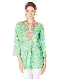 Lilly Pulitzer Women's Sarasota Tunic Top, Green, XX-Small