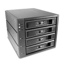 4 x 3.5 Inches SAS/SATA SSD/HDD 3 Bay Aluminum Mobile Rack