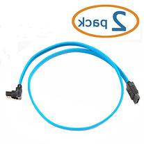Sata Cable, WOVTE 18 Inch SATA III 6.0 Gbps Cable with