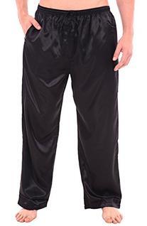 Del Rossa Men's Satin Pajama Pants, Long Pj Bottoms, Large