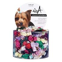 Aria Tiny Bows with Rosettes for Dogs, 100-Piece Canisters