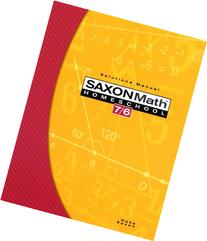 Saxon Math 7/6, Homeschool Edition: Solutions Manual