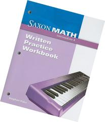 Saxon Math Intermediate 4: Written Practice Workbook